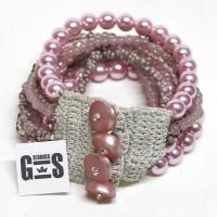 Armband rosa mit Perlmutt