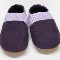 violetter Jeansschuh