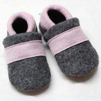 Walkschuhe grau/rosa