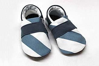 Jeansschuhe blau gestreift