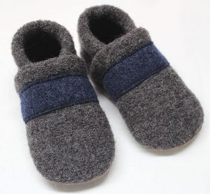 Walkschuh grau/dunkelblau